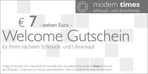 modern times welcome gutschein
