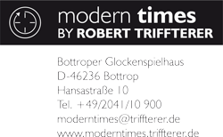 Logo von modern times by ROBERT TRIFFTERER
